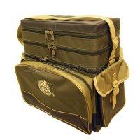 Ящик-рюкзак рыболовный 3-х ярусный H-3LUX