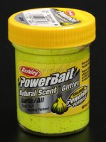 Паста Berkley Natural scent TroutBait Garlic Sunshine yellow (чеснок)