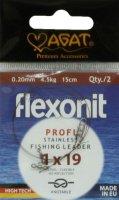 Поводок Agat Flexonit 1х19 4,5кг 15см