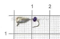 Мормышка Безмотылка №1 капля с ушком d4 никель