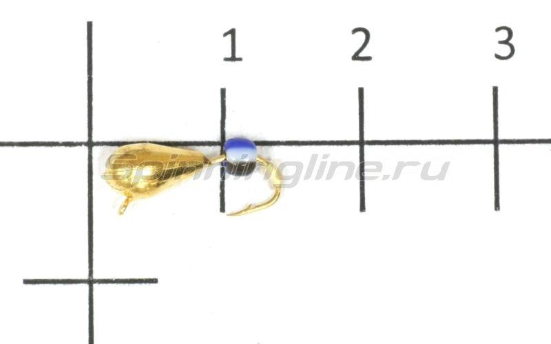 Lumicom - Мормышка Безмотылка №4 капля с ушком d4 золото - фотография 1