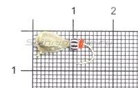 Мормышка Безмотылка №1 капля с ушком d5 серебро