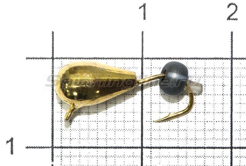 Lumicom - Мормышка Безмотылка №4 капля с ушком d5 золото - фотография 1