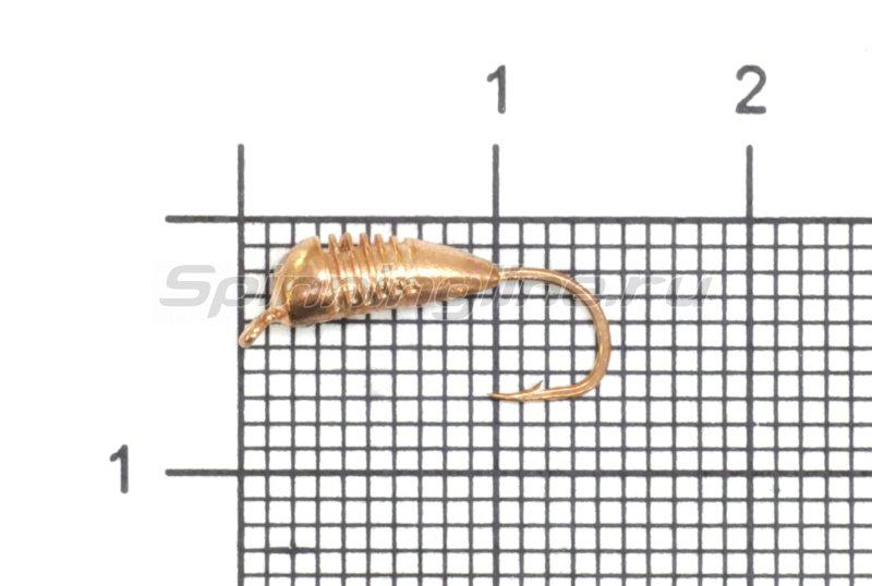 Lumicom - Мормышка Гвоздик с ушком d4 медь - фотография 1
