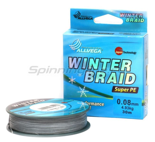 Allvega - Шнур Winter Braid Strands 30м 0,08мм - фотография 1