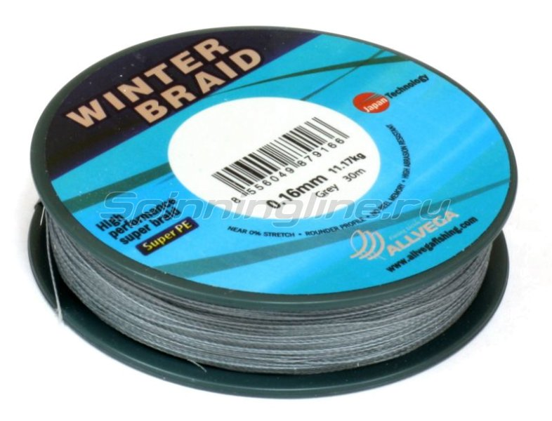 Шнур Winter Braid Strands 30м 0,12мм -  2