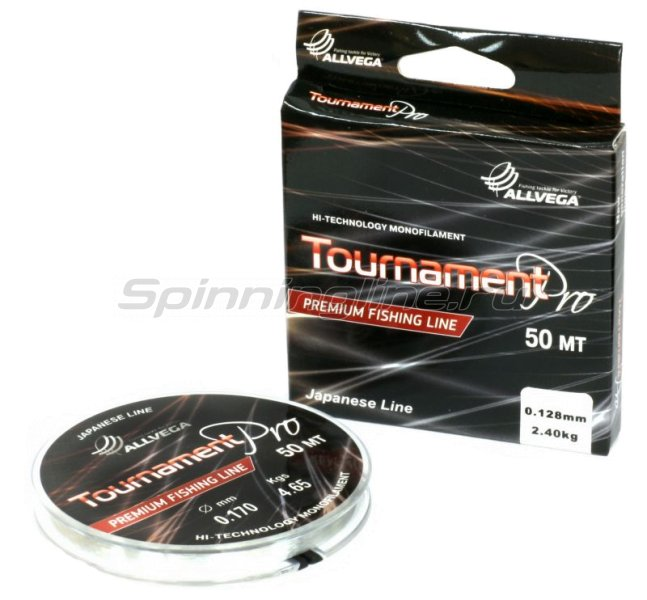Allvega - Леска Tournament Pro Premium New 50м 0.105мм - фотография 1