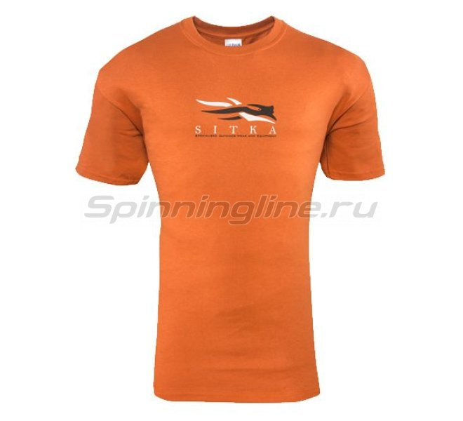 Sitka - Футболка Alaska Word Cloud SS Burnt Orange р. XXL - фотография 1