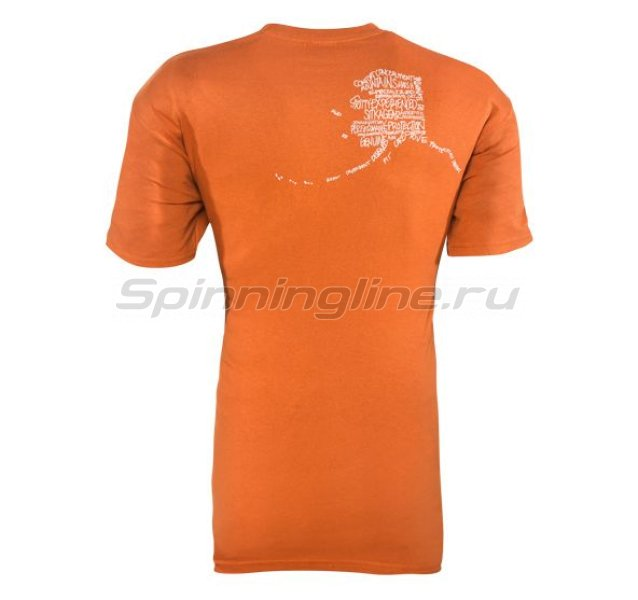 Sitka - Футболка Alaska Word Cloud SS Burnt Orange р. XXL - фотография 2