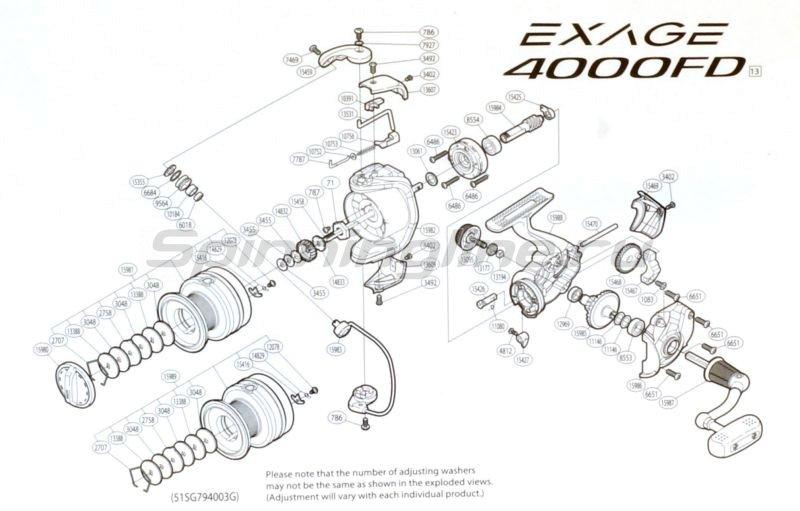 Shimano - Катушка Exage 4000 FD - фотография 5