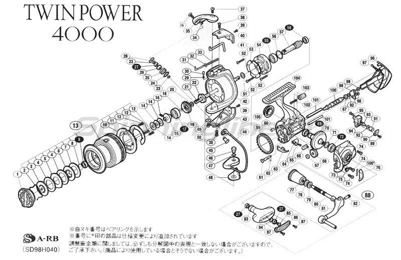 Shimano - Катушка Twin Power 11 4000 - фотография 5