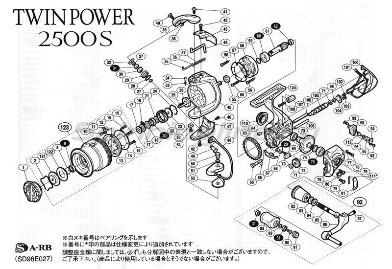 Shimano - Катушка Twin Power 11 2500S - фотография 5
