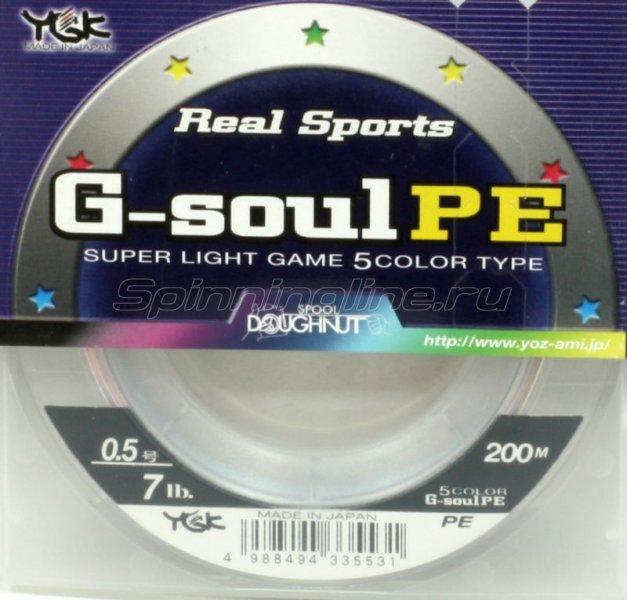 Шнур G-Soul PE 5Color 200м 0.5 -  1