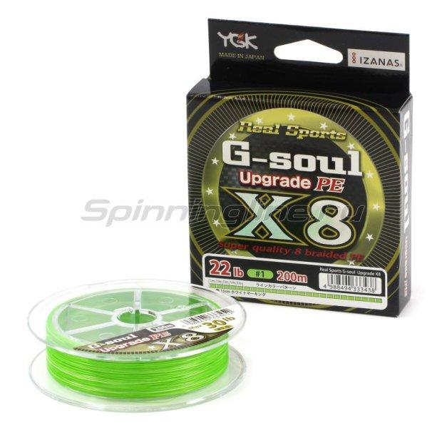 YGK - Шнур G-Soul PE X8 Upgrade 200м 1.2 - фотография 1