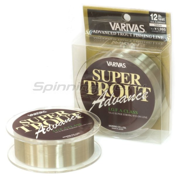 Varivas - Леска Super Trout Advance 150м Nylon 0,165мм - фотография 1