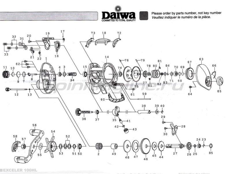 Daiwa - Катушка Exceler 100HL - фотография 5