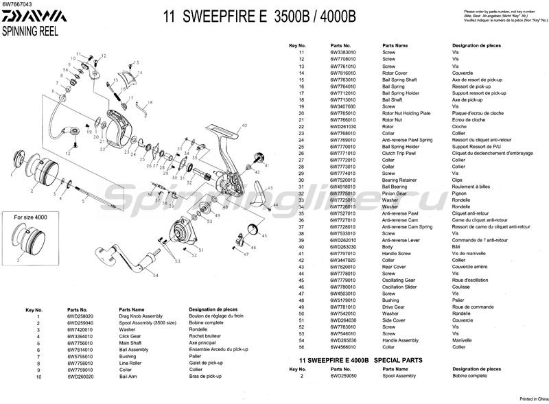 Daiwa - Катушка Sweepfire E 3500B - фотография 4