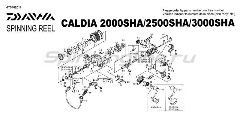 Daiwa - Катушка Caldia SHA 2500 - фотография 5