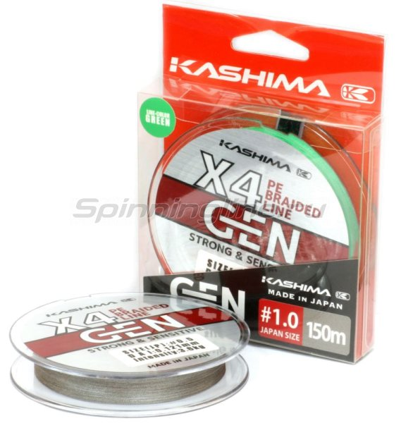 Шнур KASHIMA X4 0,108мм dark grey -  1