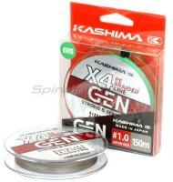 Шнур KASHIMA X4 0,242мм dark grey