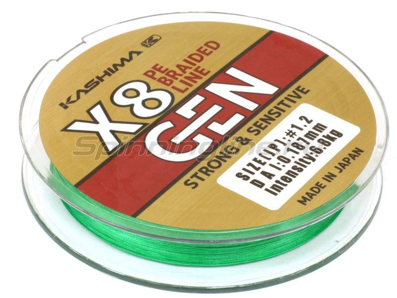 Шнур KASHIMA X8 0,242мм green - фотография 2
