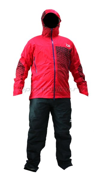 Костюм Daiwa Rainmax Rain Suit Red L - фотография 1