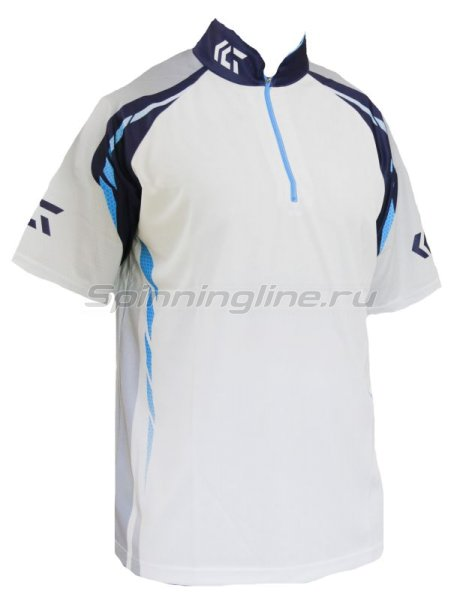 Футболка Daiwa Wicksensor Zip-Up Shirts Blue XXXL - фотография 1