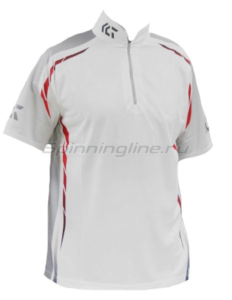 Футболка Daiwa Wicksensor Zip-Up Shirts White XXL - фотография 1