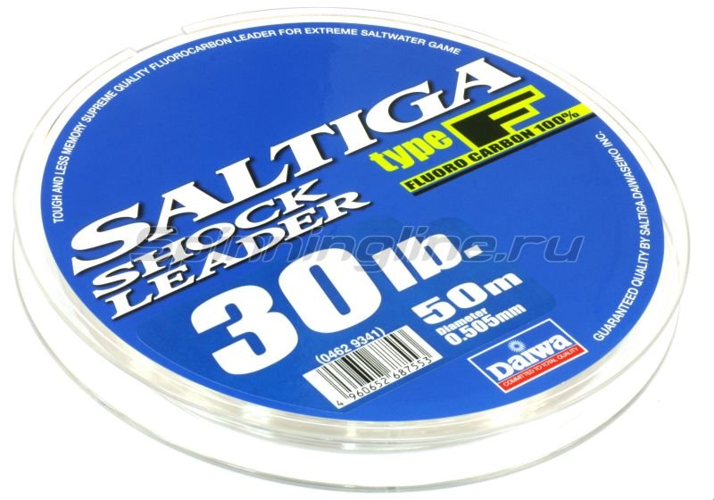 Поводковый материал Daiwa Saltiga Fluorocarbon Shok Leader 0.605мм 50м -  1