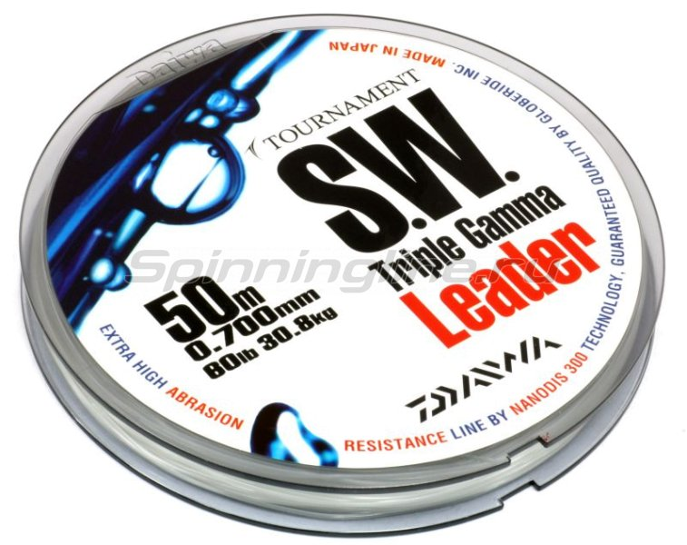 Поводковый материал Daiwa Tournament Triple Gamma SW 0.37мм 50м -  3