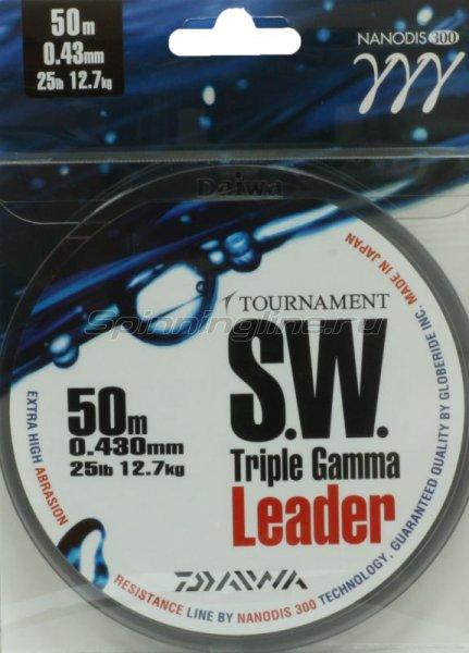 Поводковый материал Daiwa Tournament Triple Gamma SW 0.43мм 50м - фотография 2