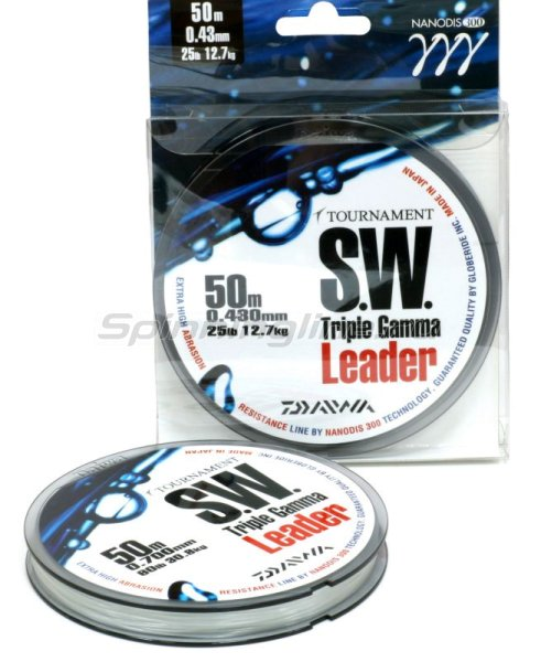 Поводковый материал Daiwa Tournament Triple Gamma SW 0.62мм 50м -  1