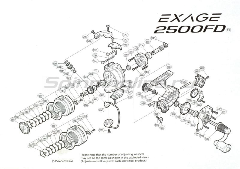 Катушка Exage 1000 FD -  5