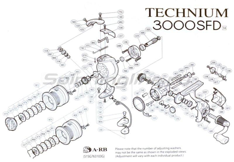 Катушка Technium 3000 S FD -  5