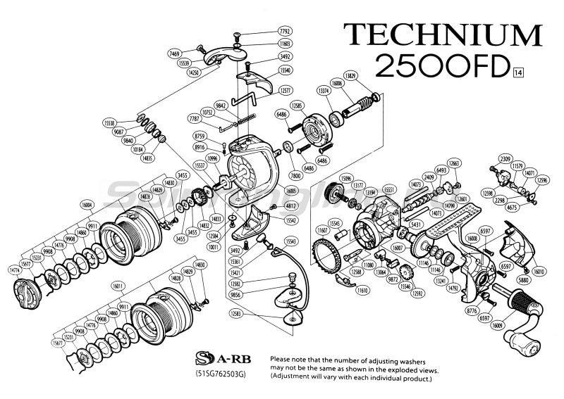 Катушка Technium 1000 FD -  9