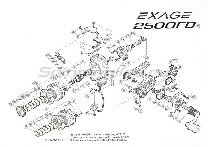 Shimano - Катушка Exage 3000 SFD - фотография 5