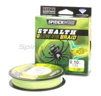 Шнур Spiderwire Stealth 137м 0,10мм Glow-Vis Braid