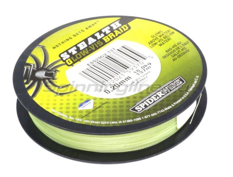 Шнур Spiderwire Stealth 137м 0,10мм Glow-Vis Braid -  2