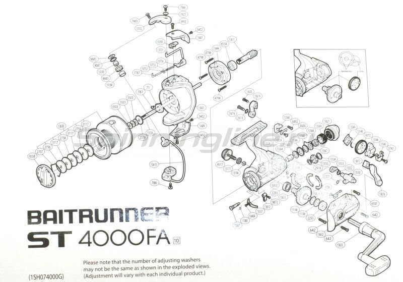 Катушка Baitrunner ST 4000 FA -  5