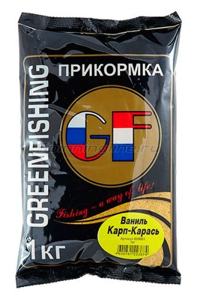 Greenfishing - Прикормка GF Карп/Карась Ваниль 1кг. - фотография 1