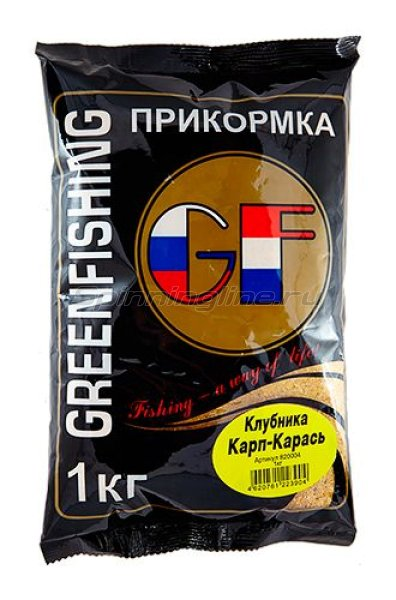 Greenfishing - Прикормка GF Карп/Карась Клубника 1кг. - фотография 1