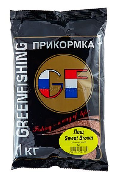 Greenfishing - Прикормка GF Метод Sweet Brown 1кг. - фотография 1