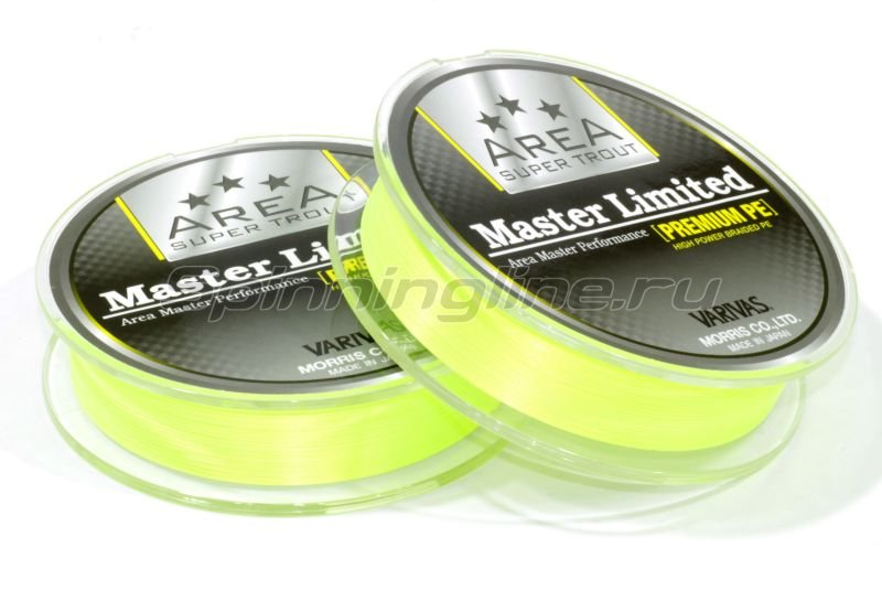 Varivas - Шнур Area Super Trout Master Limited Premium PE 75м 0.175 yellow - фотография 2