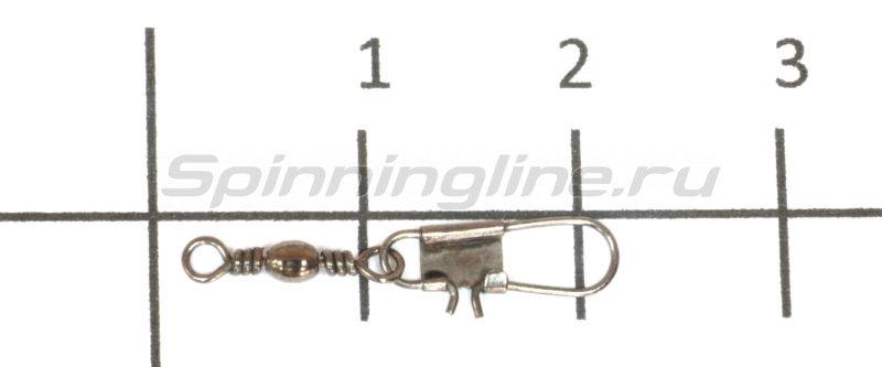 Вертлюг с карабином Cottus Interlock №18 -  1