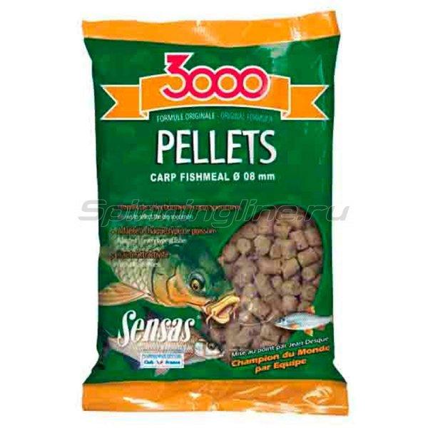 Пеллетс прикормочный Sensas Carp 3000 Fishmeal 8мм 0,7 кг -  1