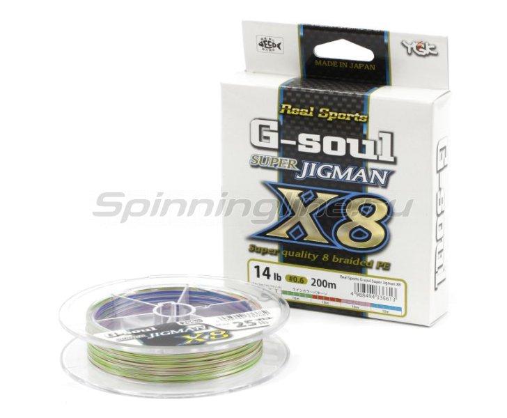 YGK - Шнур Super Jig Man X8 200м 0.8 - фотография 1