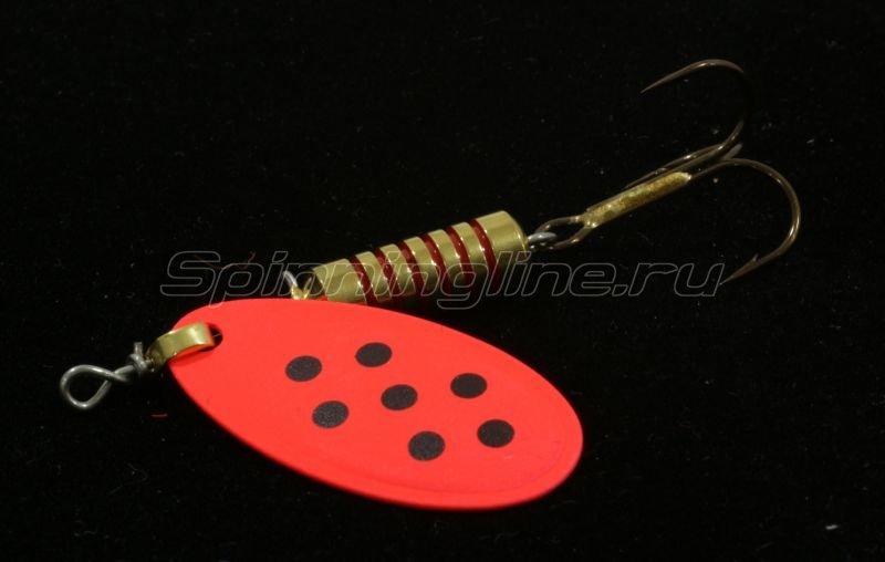 Блесна Spanto №5 red/black spot -  1
