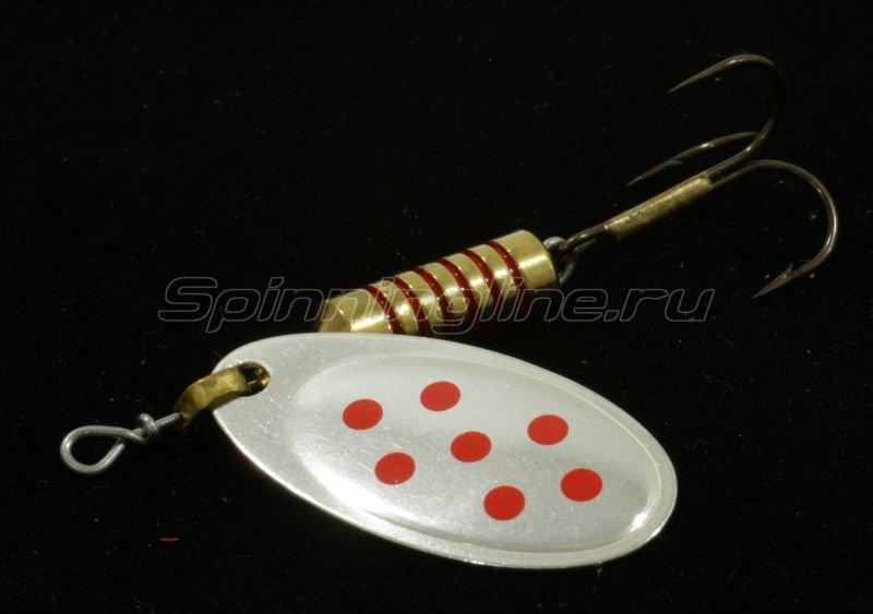 Блесна Spanto №5 silver/red spot -  1
