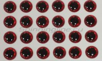 Глазки 3D Eyes 3мм red