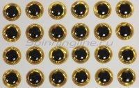 Глазки 3D Eyes 3мм yellow